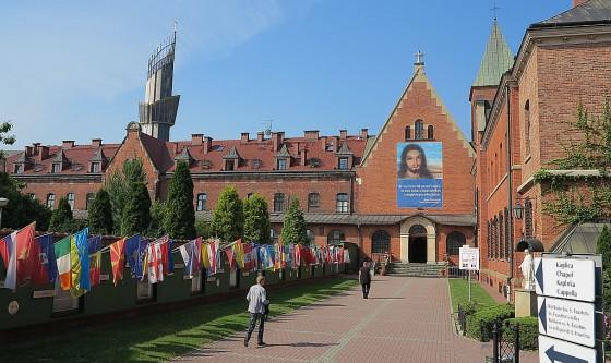 Wejscie do Santuarium w Krakowie-Lagiewnikach