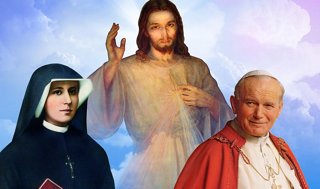 Resultado de imagen para juan pablo II y jesús misericordioso